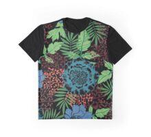 Blue floral. Flower garden. Tropical blue. Graphic T-Shirt