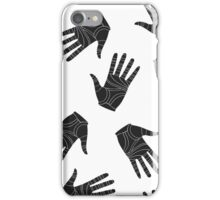 Black graphic arms iPhone Case/Skin