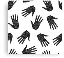 Black graphic arms Canvas Print