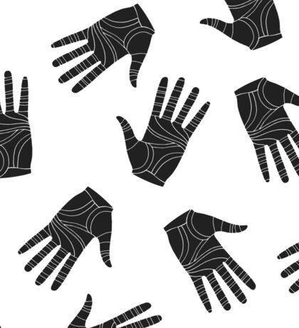 Black graphic arms Sticker