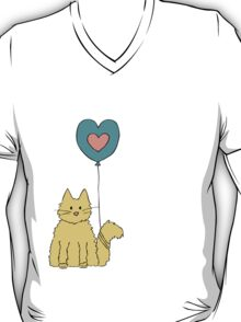 Cat tied to a balloon T-Shirt