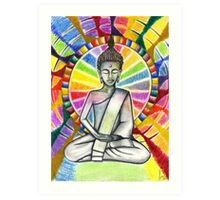 Colourful Buddha Art Print