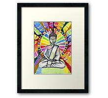 Colourful Buddha Framed Print