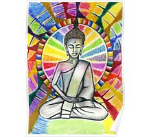 Colourful Buddha Poster