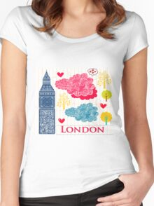London Romantic 2 Women's Fitted Scoop T-Shirt