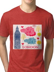 London Romantic 2 Tri-blend T-Shirt