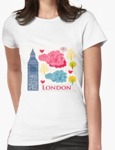 London Romantic 2 Womens Fitted T-Shirt