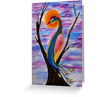 Solitary Bird Greeting Card
