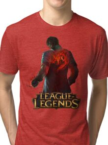 Dragon Fist Lee Sin - League of Legends Tri-blend T-Shirt
