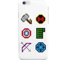 large 8 bit avengers symbols iPhone Case/Skin