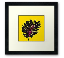 Monstera yellow Framed Print
