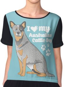 Australian Cattle Dog (Blue Heeler) Chiffon Top
