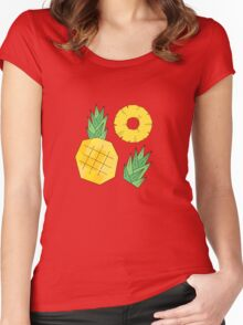Pineapple pattern Women's Fitted Scoop T-Shirt