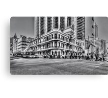 City of Perth - lunch rush hour Canvas Print