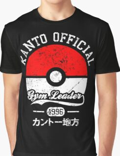 Kanto official - Gym leader Graphic T-Shirt