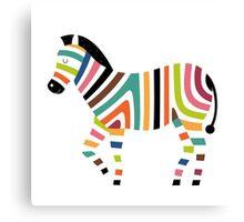 Vector Pop Art Zebra Canvas Print