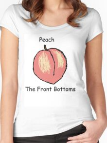 Peach  front bottoms Women's Fitted Scoop T-Shirt