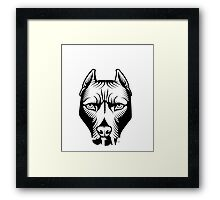 My DOG won't fight but I will Framed Print