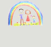 Rainbow And A Happy Family Unisex T-Shirt