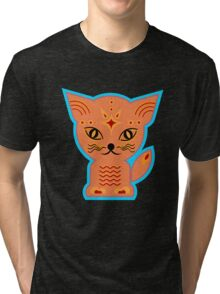 Little kitten, cat, kitty, Tri-blend T-Shirt