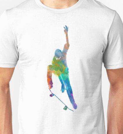 Man skateboard 04 in watercolor Unisex T-Shirt