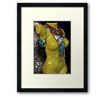 Yellow Figure  Framed Print