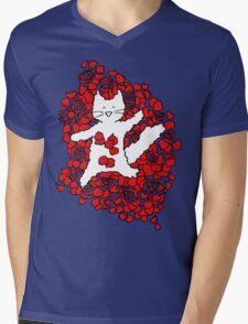 American Fluffy Mens V-Neck T-Shirt