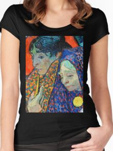 Memory of the Garden at Etten by Van Gogh Women's Fitted Scoop T-Shirt
