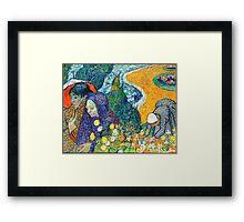 Memory of the Garden at Etten by Van Gogh Framed Print