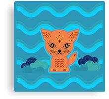 Little kitten with weather ;-) , cat, kitty, pussy Canvas Print