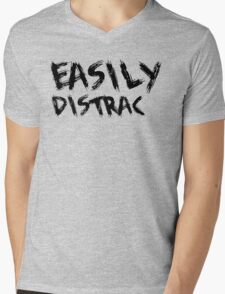 Easily Distracted Mens V-Neck T-Shirt