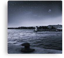 Calm night Canvas Print
