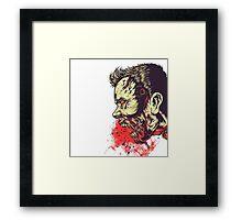 Blood zombie Framed Print
