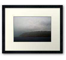 In the mist Framed Print