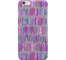Messy Watercolor Stripes in Pink and Purple iPhone Case/Skin