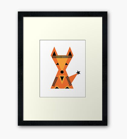 Little red fox, forest, cute, nature, animal, woodland, Framed Print
