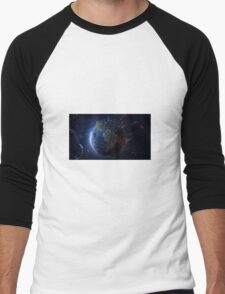 World from Space Men's Baseball ¾ T-Shirt