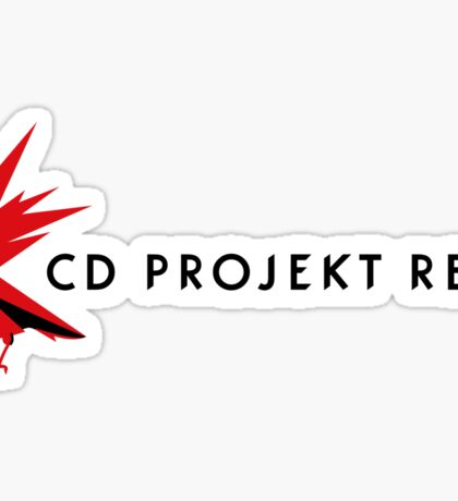 CD PROJEKT red horizontal logo Sticker