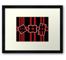 Geometrical abstraction Framed Print