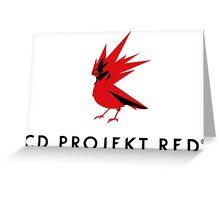 CD PROJEKT red vertical logo Greeting Card