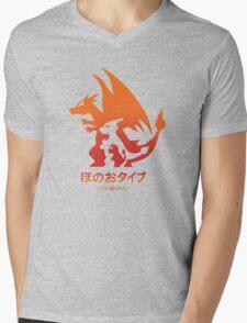 Mega Fire  Mens V-Neck T-Shirt