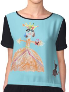 Princess And Her Cat Chiffon Top