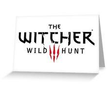 Witcher III logo Greeting Card