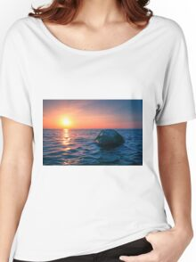Baltic Sea sunset on the island Poel Women's Relaxed Fit T-Shirt