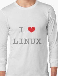 I <3 LINUX Long Sleeve T-Shirt