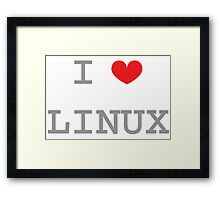 I <3 LINUX Framed Print