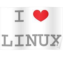 I <3 LINUX Poster