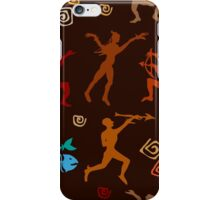 Shamanic hunting. Aboriginals art motifs. iPhone Case/Skin