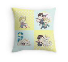 SHERLOCK-werewolf&vampire Throw Pillow