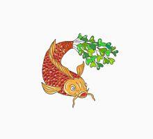 Koi Nishikigoi Carp Fish Microgreen Tail Drawing Unisex T-Shirt